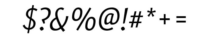 Expo Sans Pro Light Italic Font OTHER CHARS