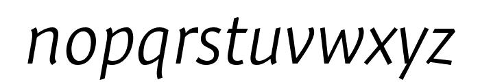 Expo Sans Pro Light Italic Font LOWERCASE