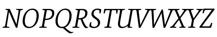 Expo Serif Pro Light Italic Font UPPERCASE