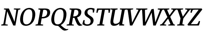 Expo Serif Pro Semibold Italic Font UPPERCASE