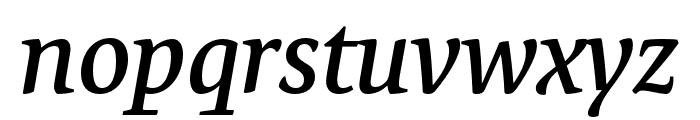 Expo Serif Pro Semibold Italic Font LOWERCASE
