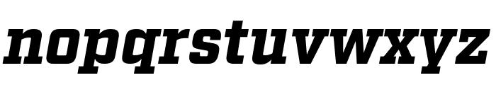 Factoria Black Italic Font LOWERCASE