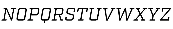 Factoria Book Italic Font UPPERCASE