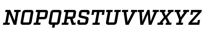 Factoria Demi Italic Font UPPERCASE