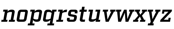 Factoria Demi Italic Font LOWERCASE