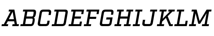 Factoria Medium Italic Font UPPERCASE