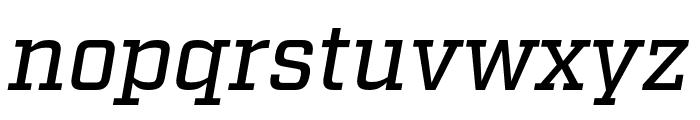 Factoria Medium Italic Font LOWERCASE