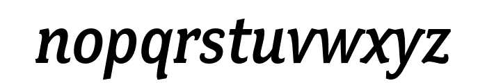 Fairplex Narrow OT Med Italic Font LOWERCASE