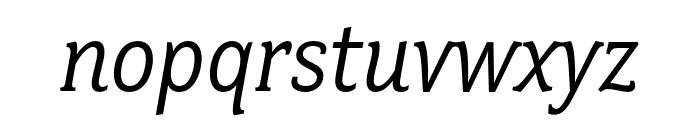 Fairplex Wide OT Book Italic Font LOWERCASE