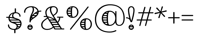 Fairwater Script Regular Font OTHER CHARS