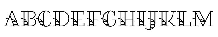 Fairwater Solid Serif Regular Font UPPERCASE
