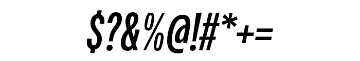 Fairweather Bold Italic Font OTHER CHARS