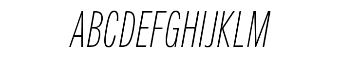 Fairweather ExtraLight Italic Font UPPERCASE