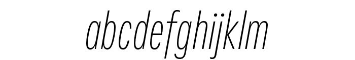 Fairweather ExtraLight Italic Font LOWERCASE