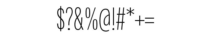 Fairweather ExtraLight Font OTHER CHARS