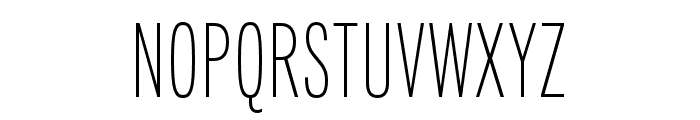 Fairweather ExtraLight Font UPPERCASE
