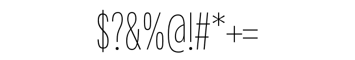 Fairweather Thin Font OTHER CHARS