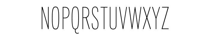 Fairweather Thin Font UPPERCASE