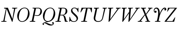 Farnham Display Light Italic Font UPPERCASE