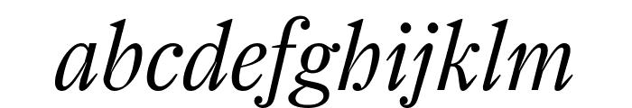 Farnham Display Light Italic Font LOWERCASE