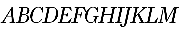 Farnham Headline Semi Light Italic Font UPPERCASE
