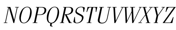 Fenice Pro ITC Light Oblique Font UPPERCASE