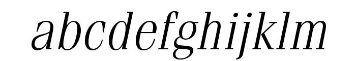 Fenice Pro ITC Light Oblique Font LOWERCASE
