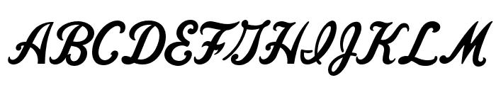 FenwayParkJF Regular Font UPPERCASE
