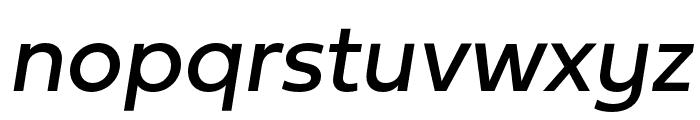 Fieldwork Italic Regular Font LOWERCASE