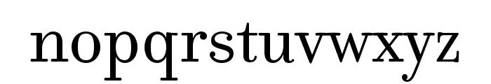 Filosofia Unicase OT Regular Font LOWERCASE