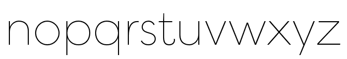 Filson Pro Thin Font LOWERCASE