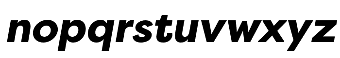 Filson Soft Black Italic Font LOWERCASE