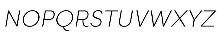 Filson Soft Light Italic Font UPPERCASE