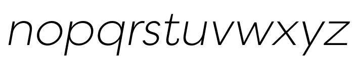 Filson Soft Light Italic Font LOWERCASE
