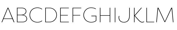 Filson Soft Thin Font UPPERCASE