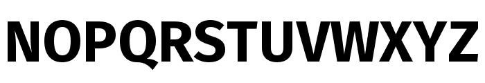 Fira Sans Compressed Bold Font UPPERCASE