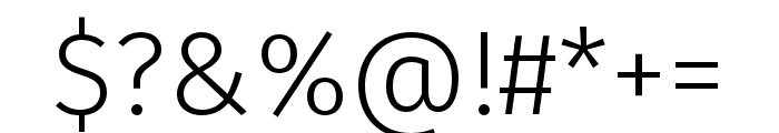 Fira Sans Compressed Eight Font OTHER CHARS