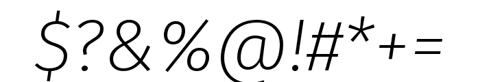 Fira Sans Compressed Four Italic Font OTHER CHARS