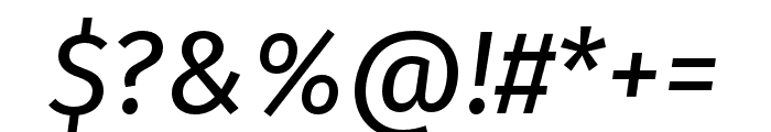 Fira Sans Compressed Italic Font OTHER CHARS