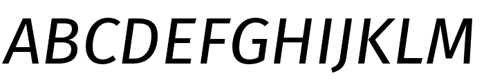 Fira Sans Compressed Italic Font UPPERCASE