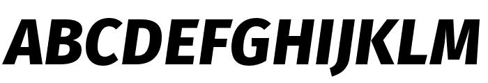 Fira Sans Compressed Light Italic Font UPPERCASE