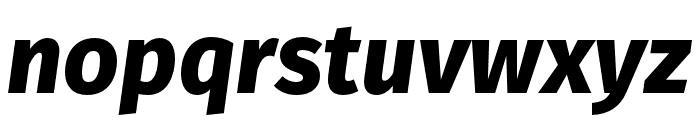 Fira Sans Compressed Light Italic Font LOWERCASE