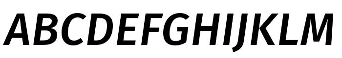 Fira Sans Compressed Medium Italic Font UPPERCASE