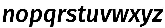 Fira Sans Compressed Medium Italic Font LOWERCASE