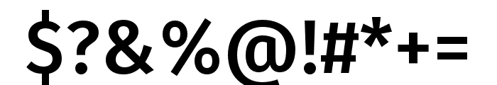 Fira Sans Compressed Medium Font OTHER CHARS