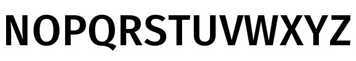 Fira Sans Compressed Medium Font UPPERCASE