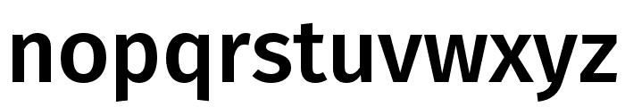 Fira Sans Compressed Medium Font LOWERCASE