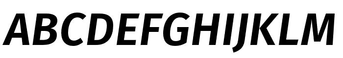 Fira Sans Compressed UltraLight Italic Font UPPERCASE
