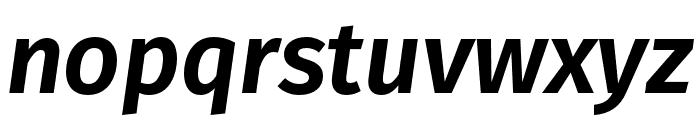 Fira Sans Compressed UltraLight Italic Font LOWERCASE