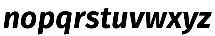 Fira Sans Condensed ExtraLight Italic Font LOWERCASE